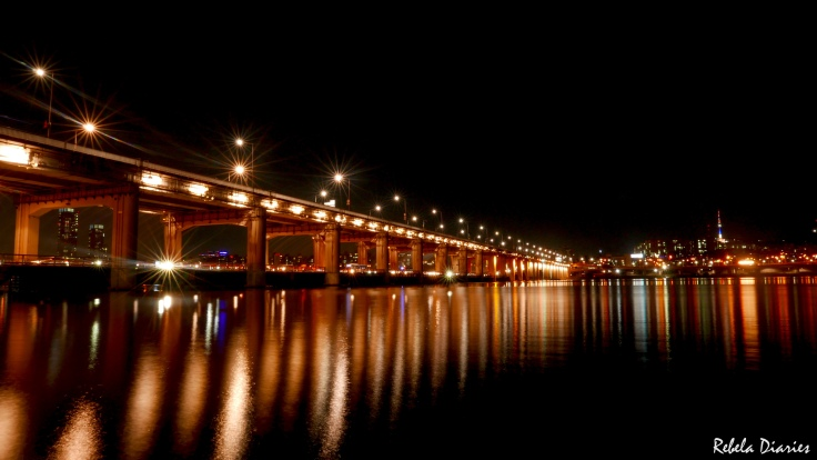 Banpo Bridge at night