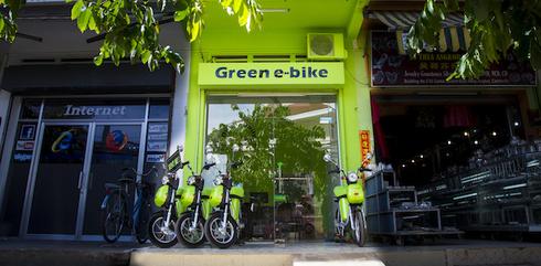 Green e-bike Siem Reap