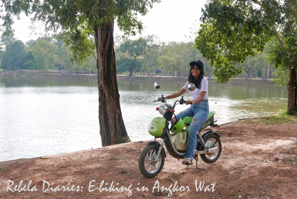 Rebela Diaries E-biking in Angkor Wat
