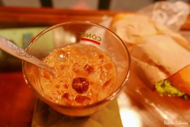 Vietnamese coffee and banh mi