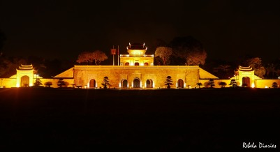 Imperial Citadel Hanoi night