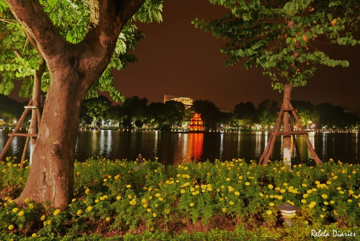 Turtle Tower Hanoi at night