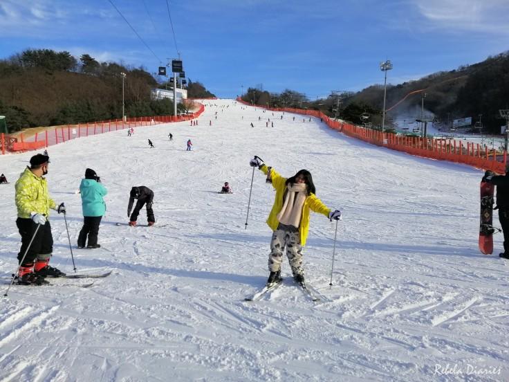 Skiing at Vivaldi Ski World